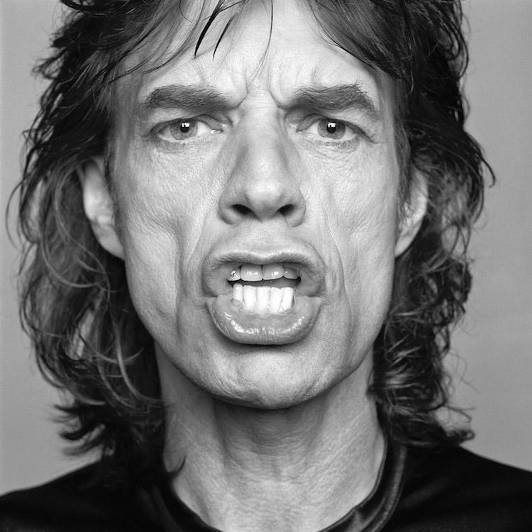 Mick Jagger framför Patrik Anderssons kamera