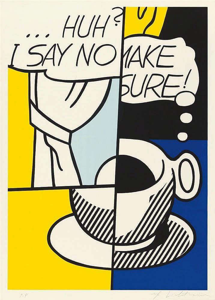 ROY LICHTENSTEIN. ... Huh?. Firmado (1976)