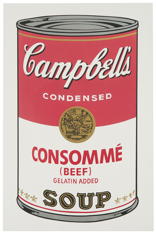 Lot 180 Andy Warhol Campbell's Soup I 1968