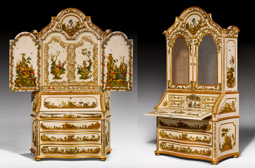 Writing cupboards made in northern Italy, middle of the 19th century. Photo: Koller
