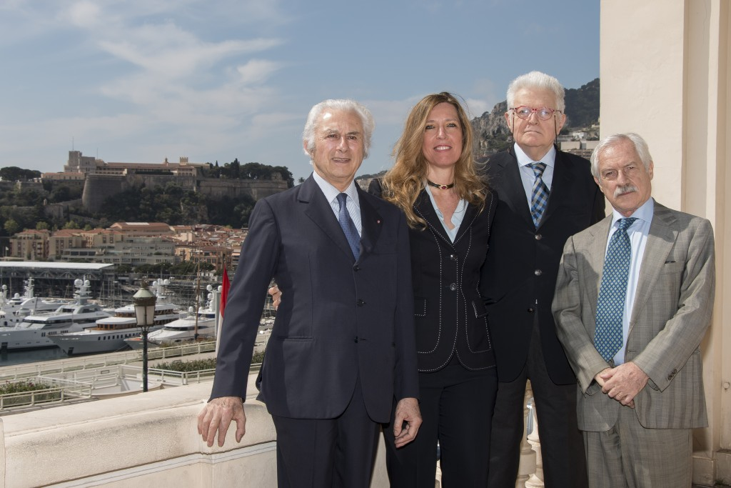 Le Comité Organisateur : (de gauche à droite) Adriano Ribolzi, Marietta Vinci-Corsini, Louis Toninelli, Alfredo Pallesi