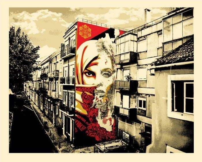 Shepard Fairey (OBEY) & VHILS - Universal Personhood Lisbon