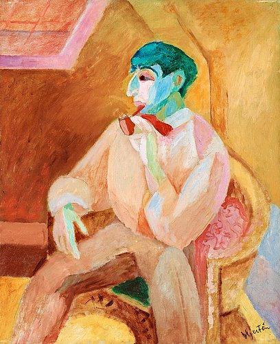 """Sigrid Hjertén, """"Isaac med pipan"""", 1911. Bild från Bukowskis."""