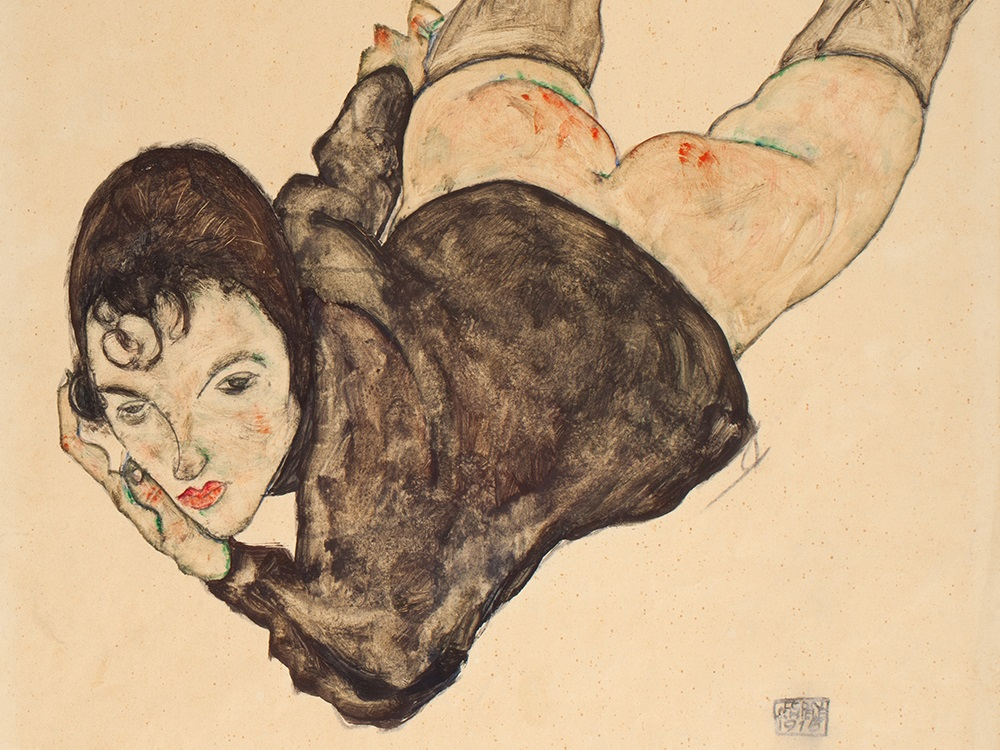 Egon Schiele, Reclining Woman, 1916 Image via Auctionata