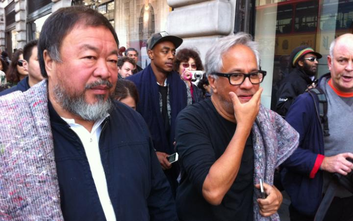 Anish Kappor and Ai Weiwei in September 2015. Image: the Telegraph