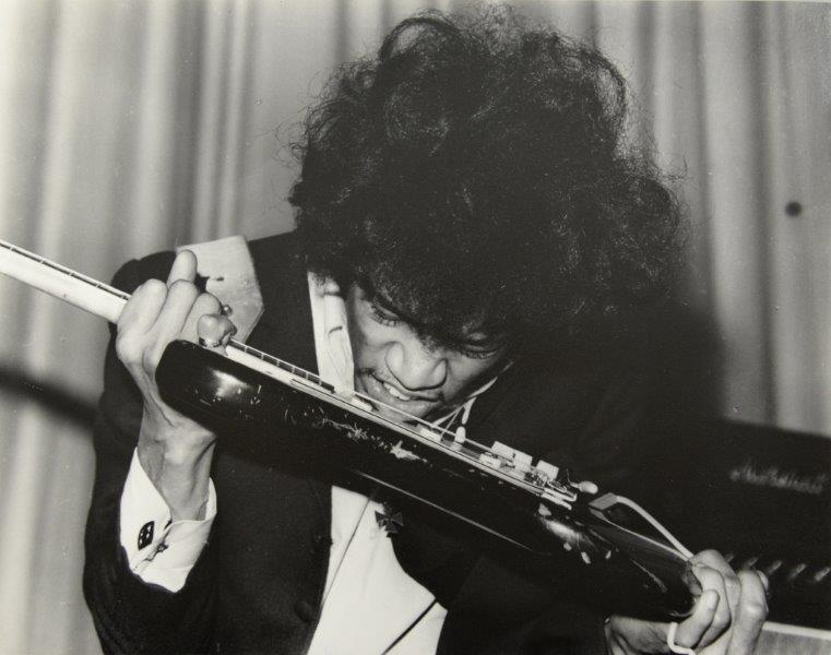 Harry Goodwin's photograph of Jimi Hendrix Image via Ewbank's