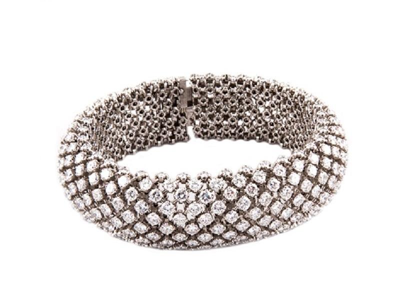 BOUCHERON - Armband aus Platin mit 396 Brillanten, Paris Ausruf: 20.000 EUR