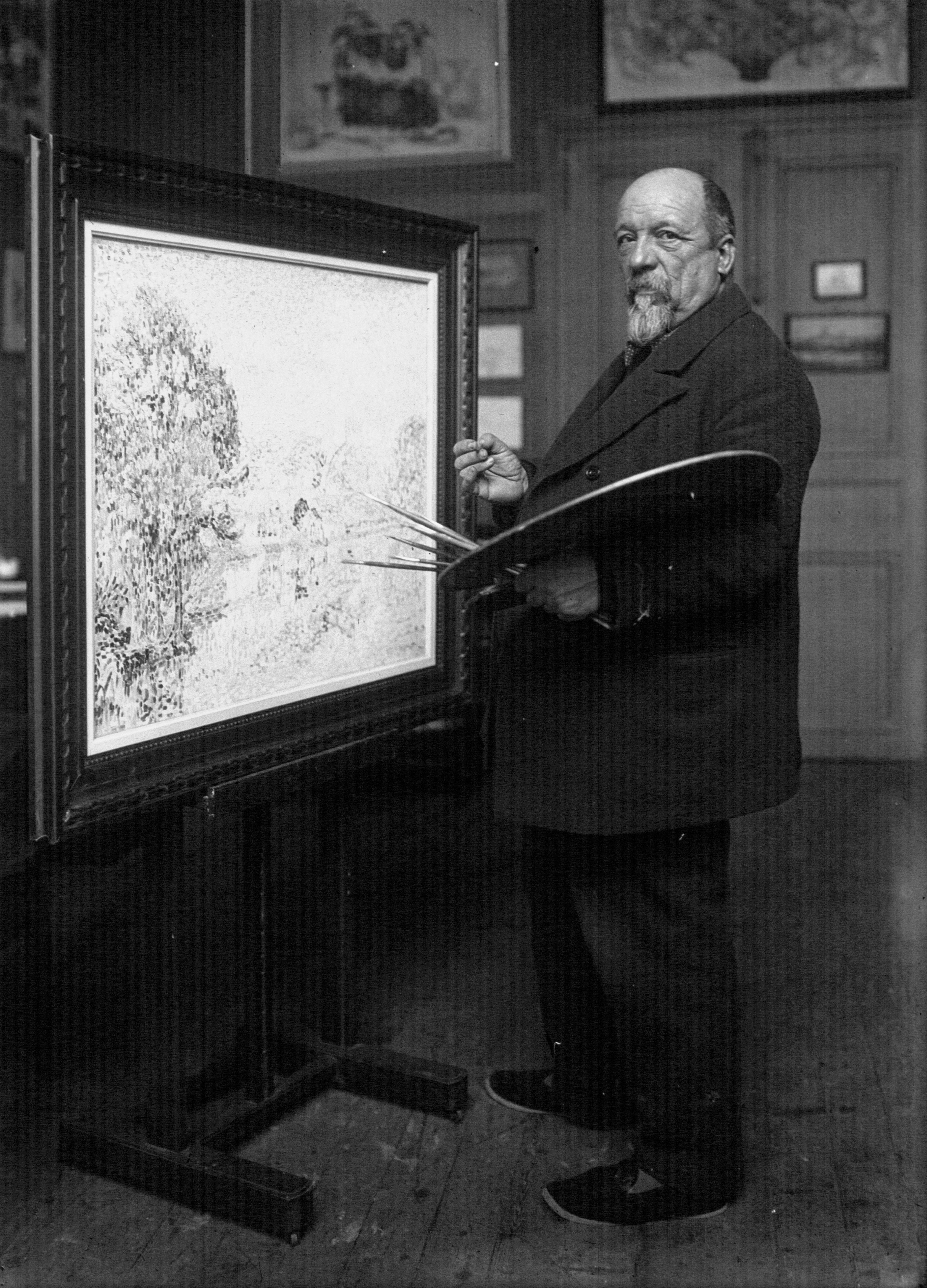 Paul Signac en 1923, image : domaine public