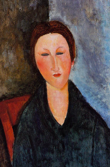 Amedeo Modigliani, 'Bust of a Young Woman', 1916-17