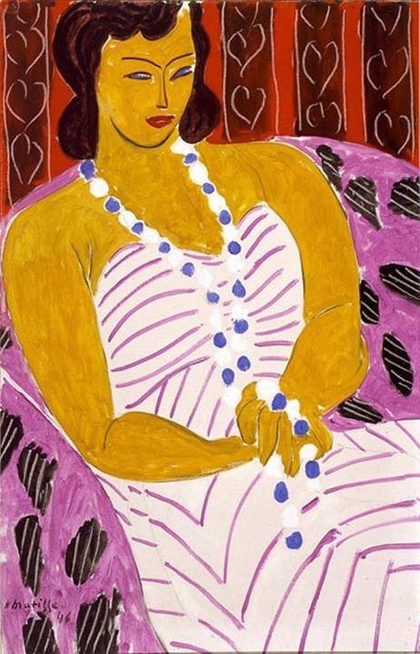 Henri Matisse, Dame à la robe blanche [Woman in White]. 1946, oil on canvas. Courtesy The Matisse Foundation. © 2017 Succession H. Matisse / Artists Rights Society