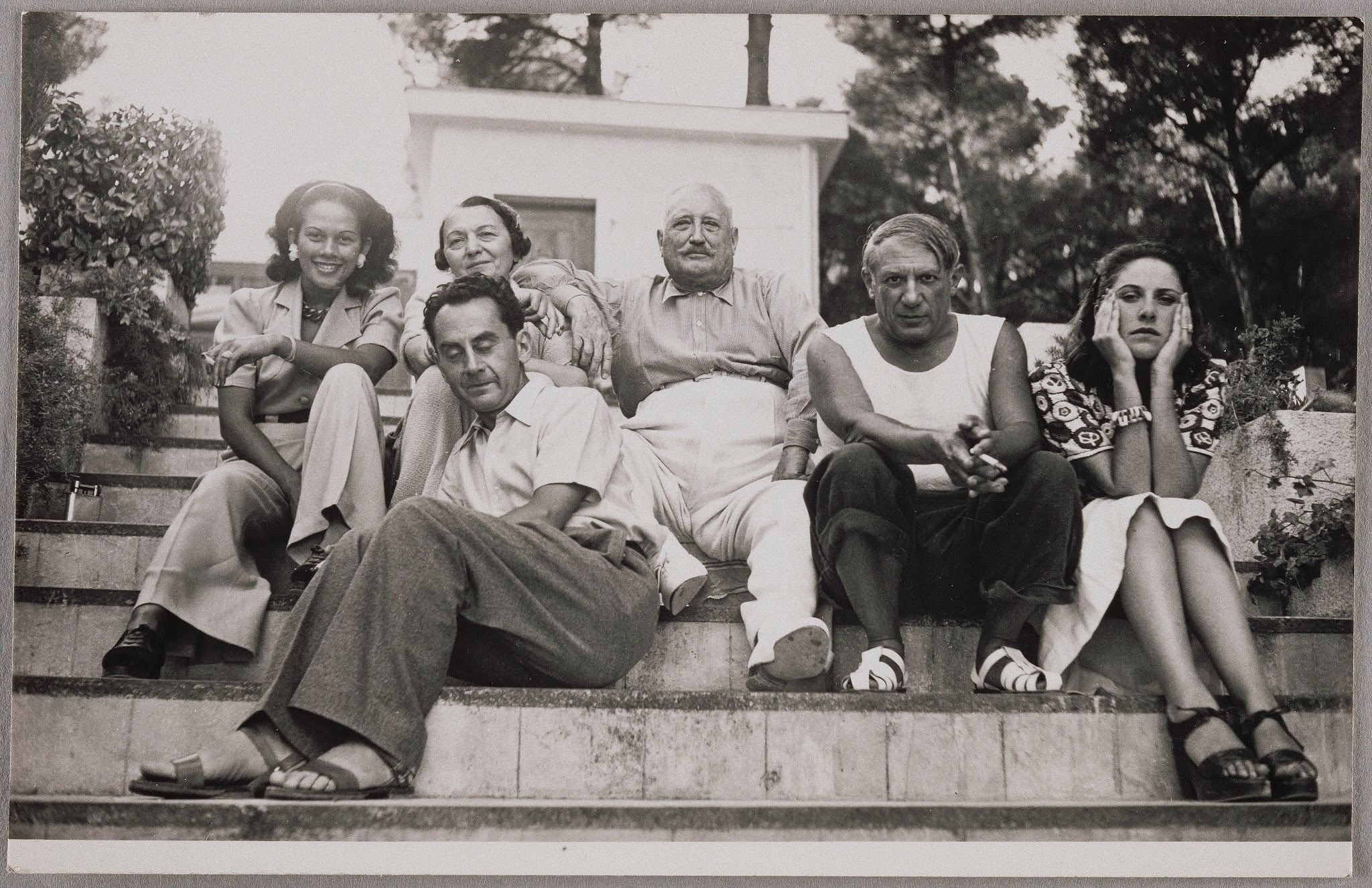 Ady Fidelin, Marie-Cuttoli, Man Ray, Picasso and Dor Maar, 1937 by Man Ray ©Man Ray Trust ADAGP Paris and DACS London 2017