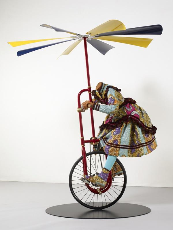 Yinka Shonibare Girl on Flying Machine (2008) Image: James Cohan Gallery