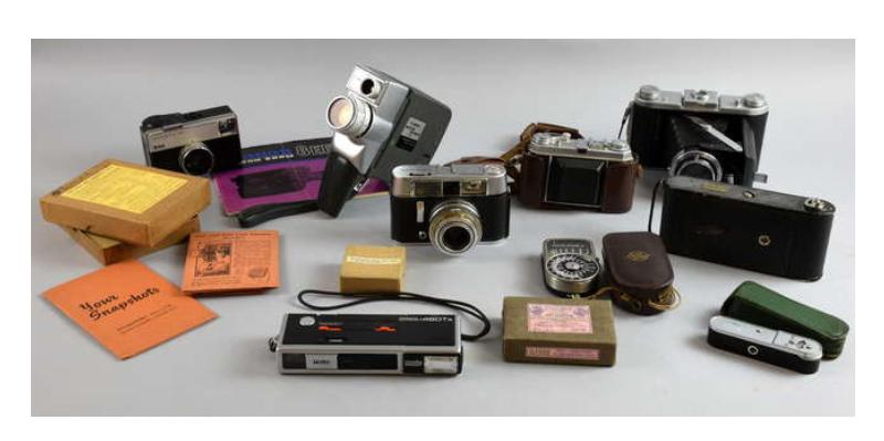 Colección de cámaras fotográficas y equipos fotográficos