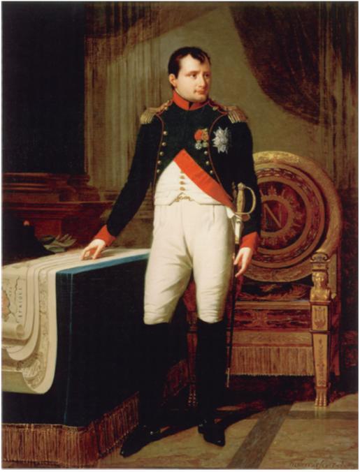 Robert Lefevre (1756-1830), Napoleon I in Colonel's uniform of the guard hunters, image via napoleon.org