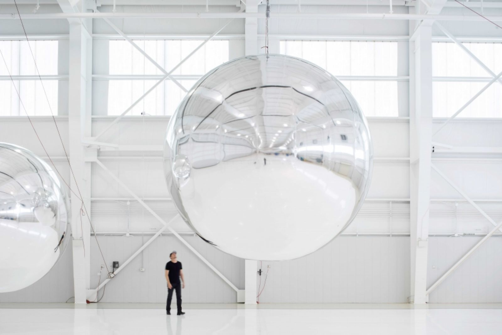 Paglen with his Prototype for a Nonfunctional Satellite (Design 4; Build 4), 2013. Photo: © Altman Siegel Gallery and Metro Pictures