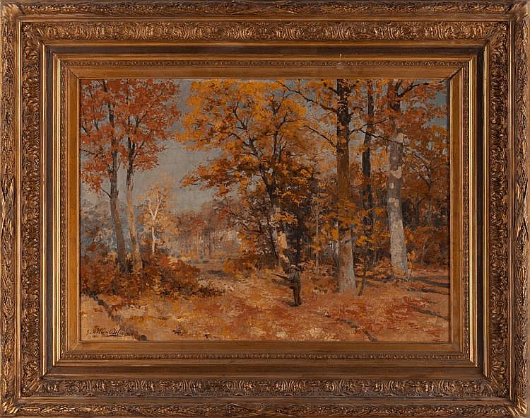 Willem Delsaux Hunter in an Autumn Forest Art Europe Auctions