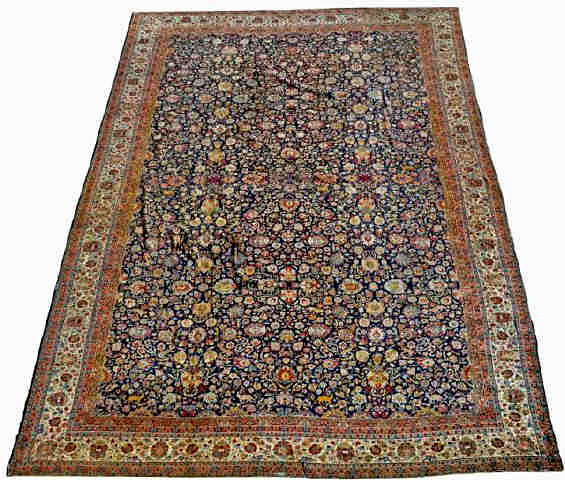 Palace-size antique Heriz rug