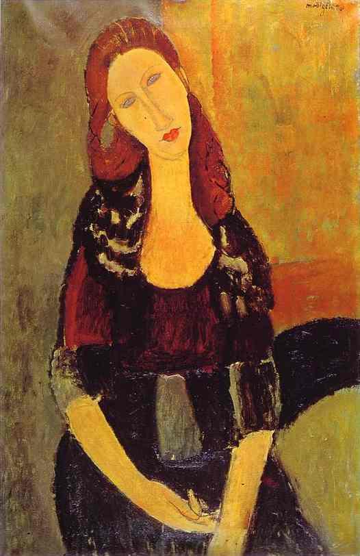 AMEDEO MODIGLIANI (1884-1920) - Portrait de Jeanne Hébuterne, 1918 Image via redtreetimes.com