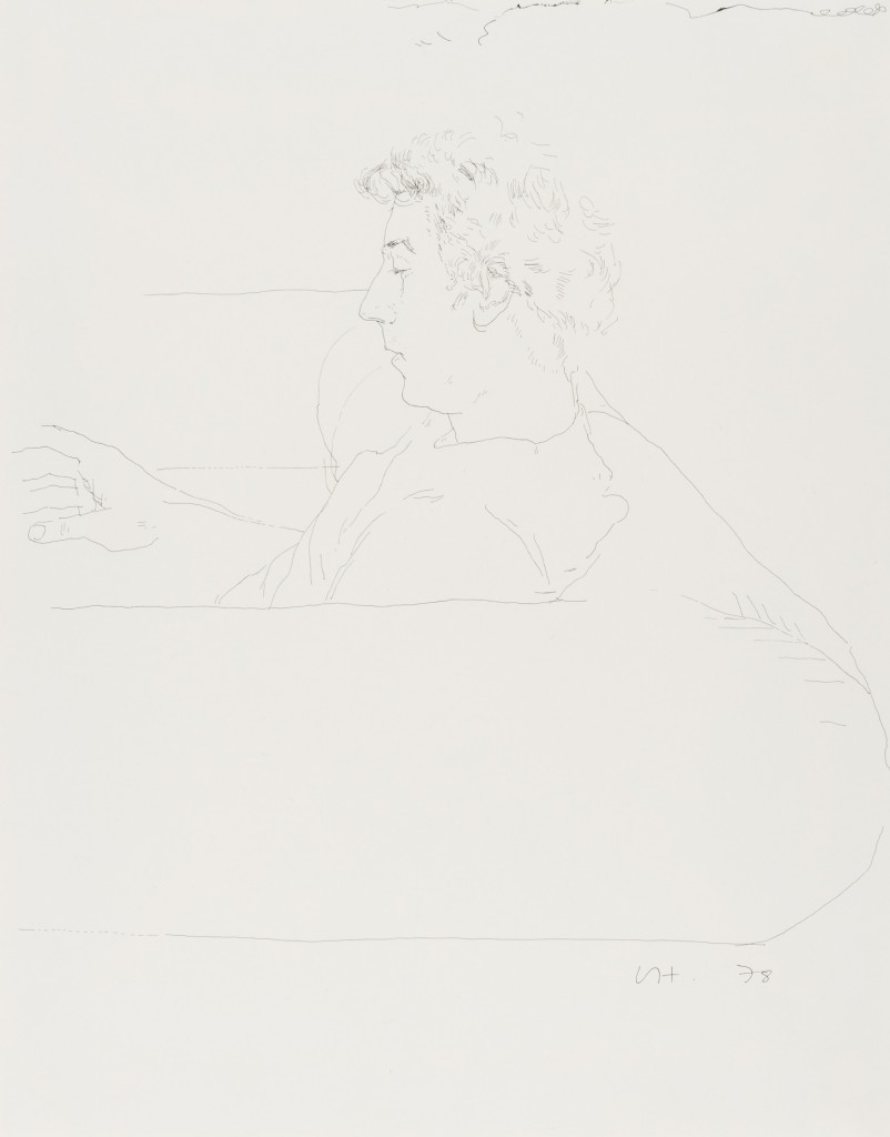 DAVID HOCKNEY - Gregory on a sofa, India-Tinte/Papier, monogrammiert und datiert, 1978