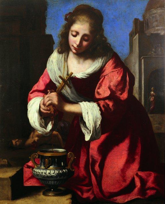 Johannes (van Delft) Vermeer  Saint Praxedis