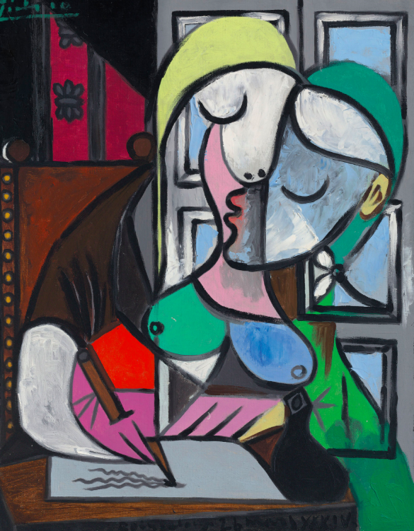 Pablo Picasso (1881-1973), Femme écrivant (Marie-Thérèse). Painted on 26 March 1934 in Boisgeloup. Oil on canvas. 31⅞ × 25½ in (80.9 × 64.7 cm). Sold for £34,885,000 in the Impressionist and Modern Art Evening Sale on 27 June at Christie's London © Succession Picasso/DACS, London 2017