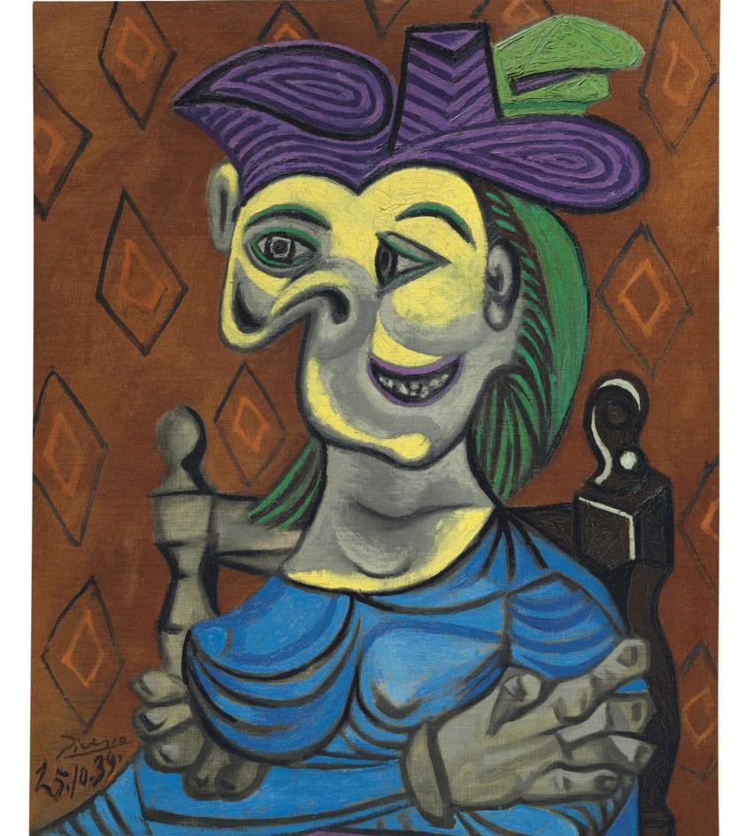 Pablo Picasso, Femme assise, robe bleue (1939). Photo: CHRISTIE'S IMAGES LTD, 2017