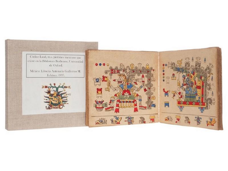 Códice Laud. Pictórico Mexicano de 1937 similar al que existe en la Biblioteca Bodleiana de la Universidad de Oxford