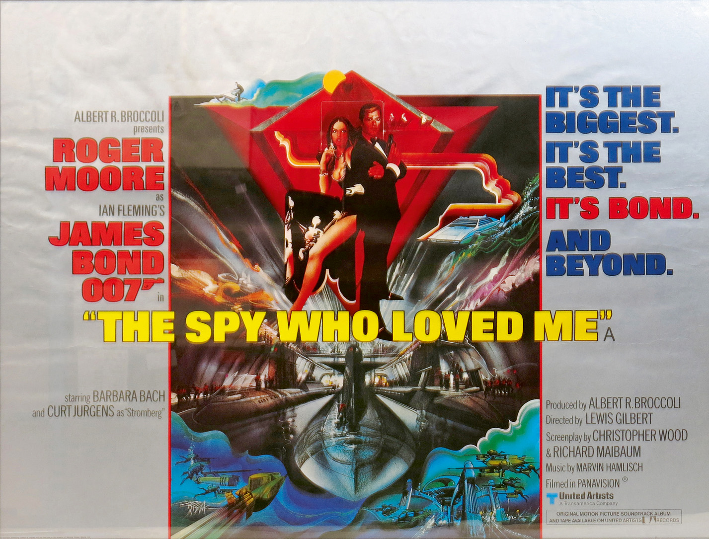 The Spy Who Loved Me a British Quad James Bond film poster, illustrated by Bob Peak, released 1977 Estimate: £250-350