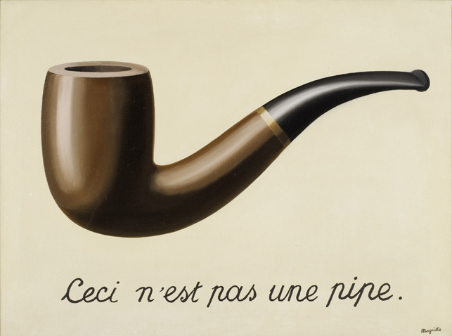 The Treachery of Images. Rene Magritte. 1928. Bild: MoMa