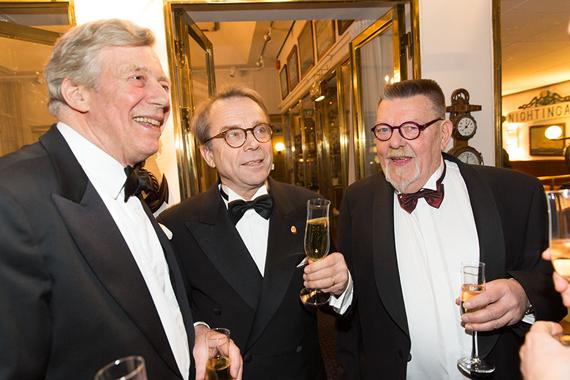 Lars Yngve Johansson på prisutdelningen av det prestigefulla Collectors Award tillsammans med Knut Knutsson och Winston Håkansson, ordförande för Collectors Award som firar 10 år i år