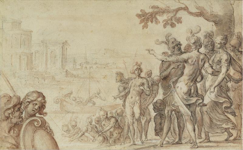 """Den lilla teckningen av Ambroise Dubois: föreställande """"Charikleas afskibning"""" kostade köparen 4,2 miljoner danska kronor plus provision vilket i runda slängar motsvarar 7,6 miljoner svenska kronor"""