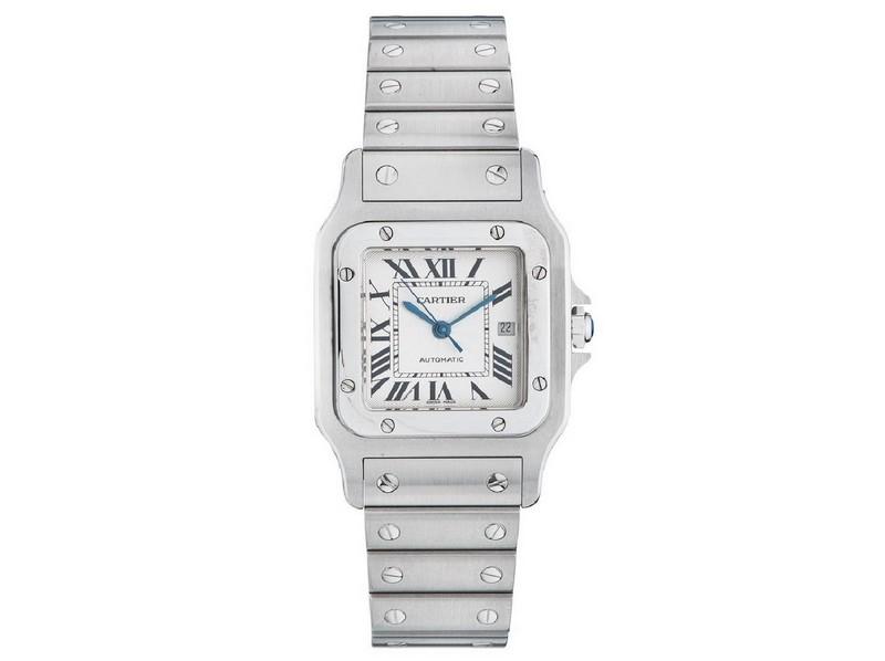 Reloj de pulsera CARTIER SANTOS GALBÈE. Caja y pulsera de acero