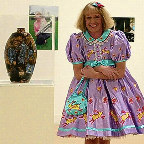 Grayson Perry with his Turner-Prize-winning work