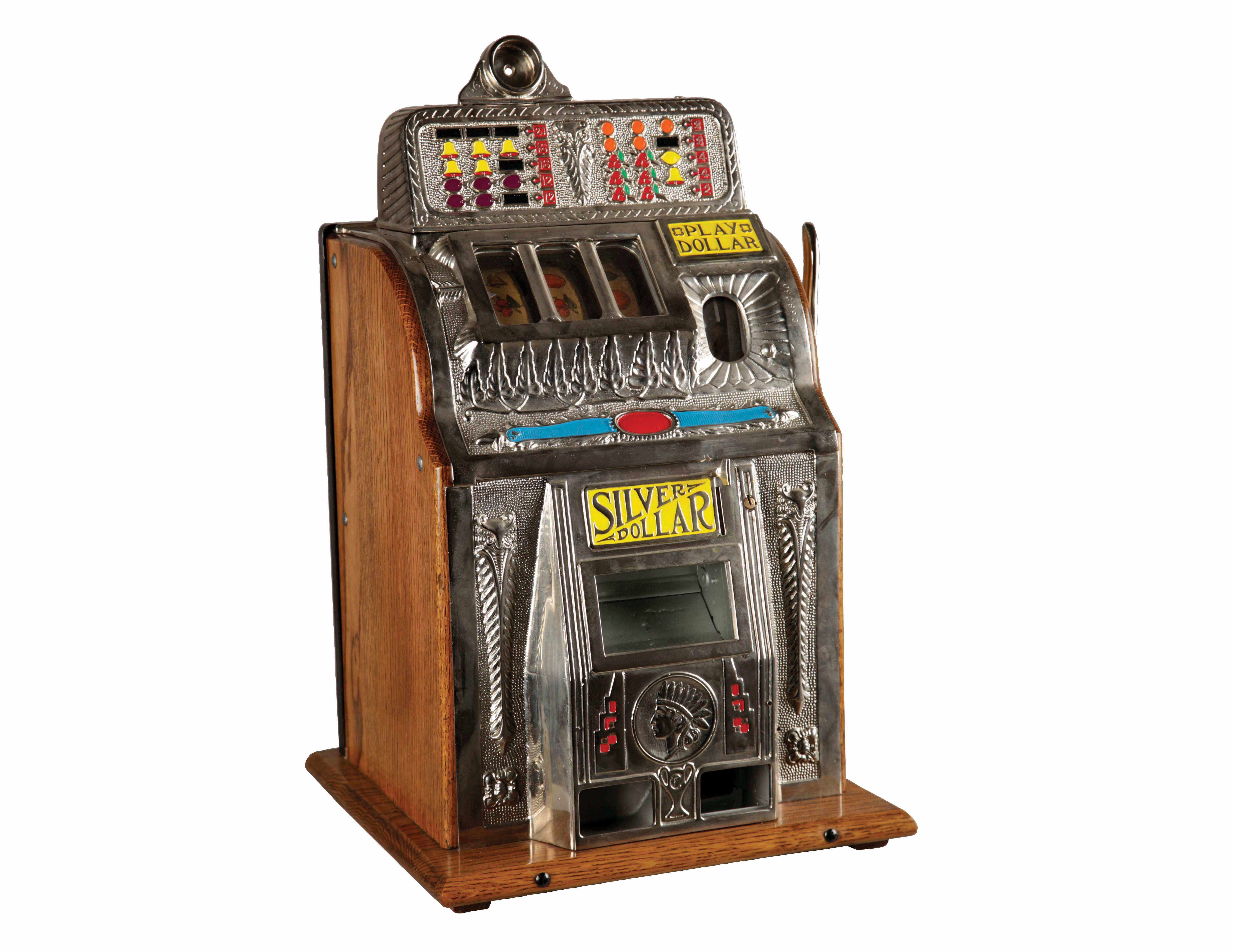Machine à sous Charles Fey & Sons alimentée par 1 dollar en argent