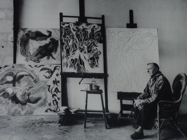 André Masson in his studio