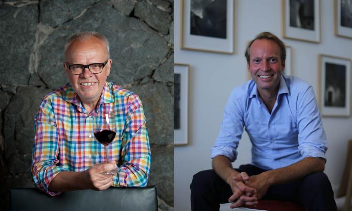 """Håkan Larsson från """"Allt om Vin"""" och SVT:s Gomorron Sverige och Pontus Silfverstolpe tar er med på en kulinarisk resa genom tre sekler"""