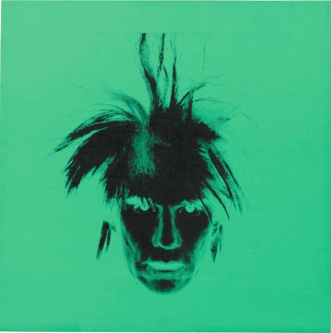 Andy Warhol, självporträtt (Fright Wig). Utropspris: 3 720 000 SEK.