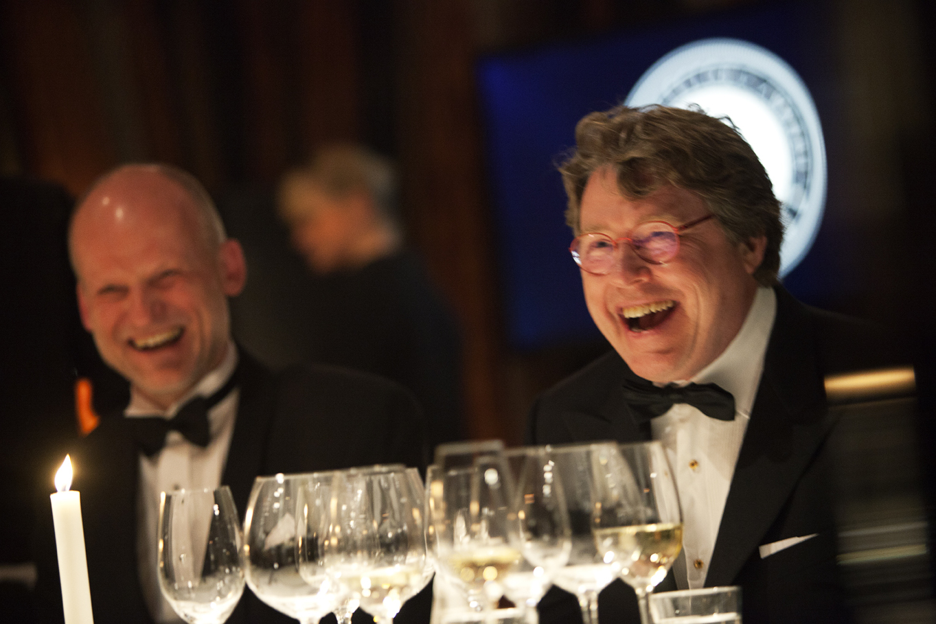 På Collector's Awards party: Guiseppe Wickström och Jan Ribbhagen