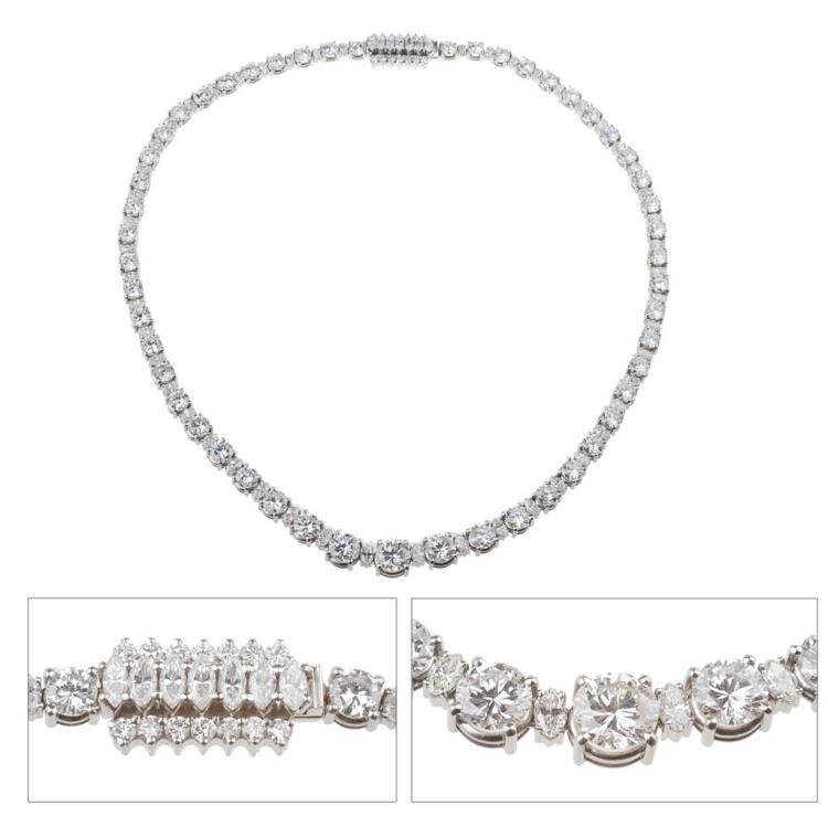 Collar de platino con diamantes RIVIERE