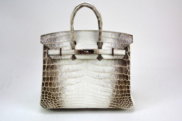 Hermès - Birkin 25, Niloticus leather in 'Himalaya'