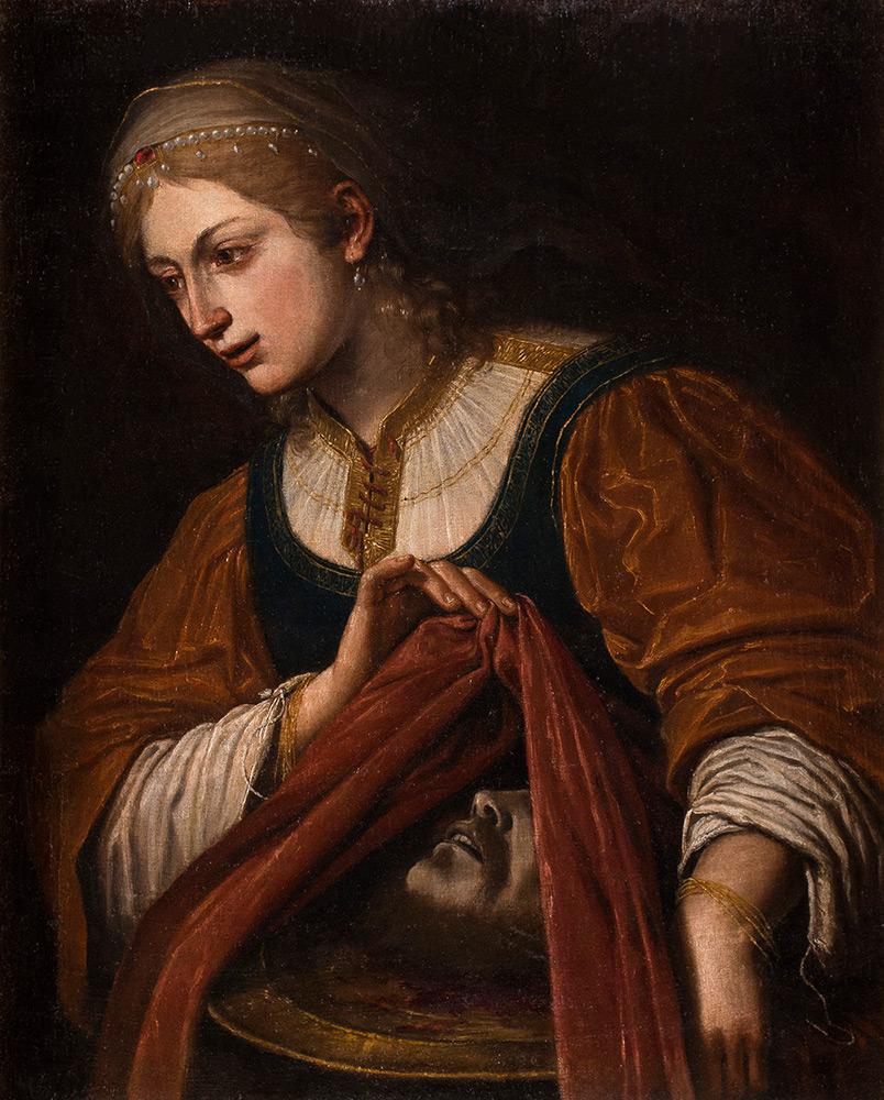 LEONELLO SPADA (Bologna 1579 - Parma 1622) - Salome mit dem Haupt Johannes des Täufers, Öl/Lwd., 72,1x58,3 cm Schätzpreis: 50.000-70.000 EUR