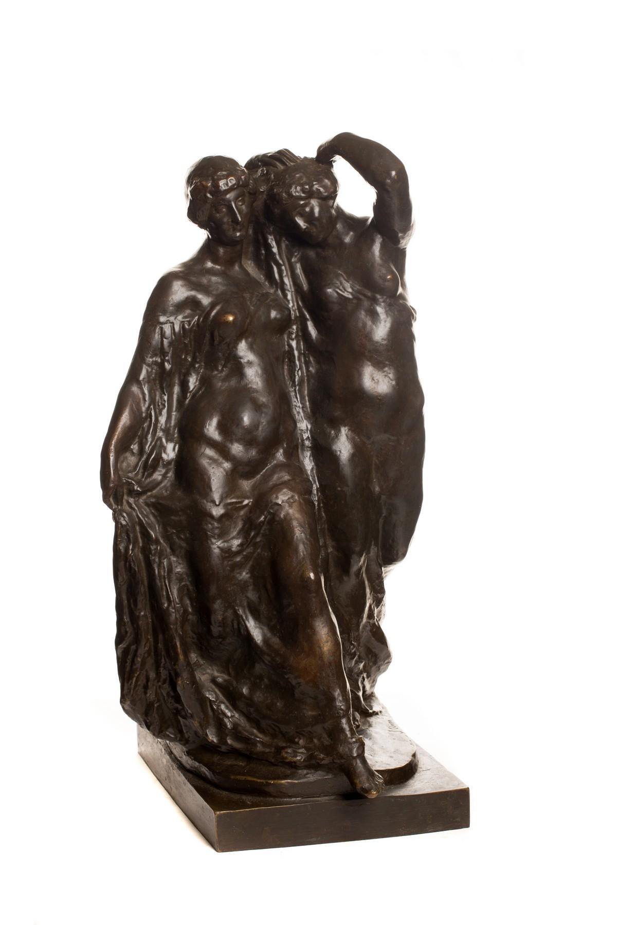 JOSEP CLARÀ. El ritme. Escultura en bronce patinado. Firmada