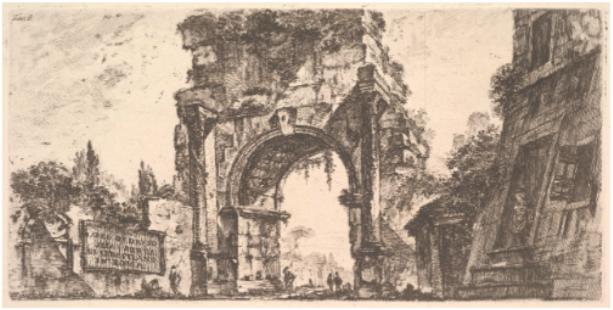 Gravure de Peronèse, vers 1748, image ©Metropolitan museum of Art, New York