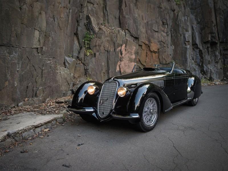 Alfa Romeo 8C 2900B Lungo Spider, 1939. Image courtesy of RM Sotheby's