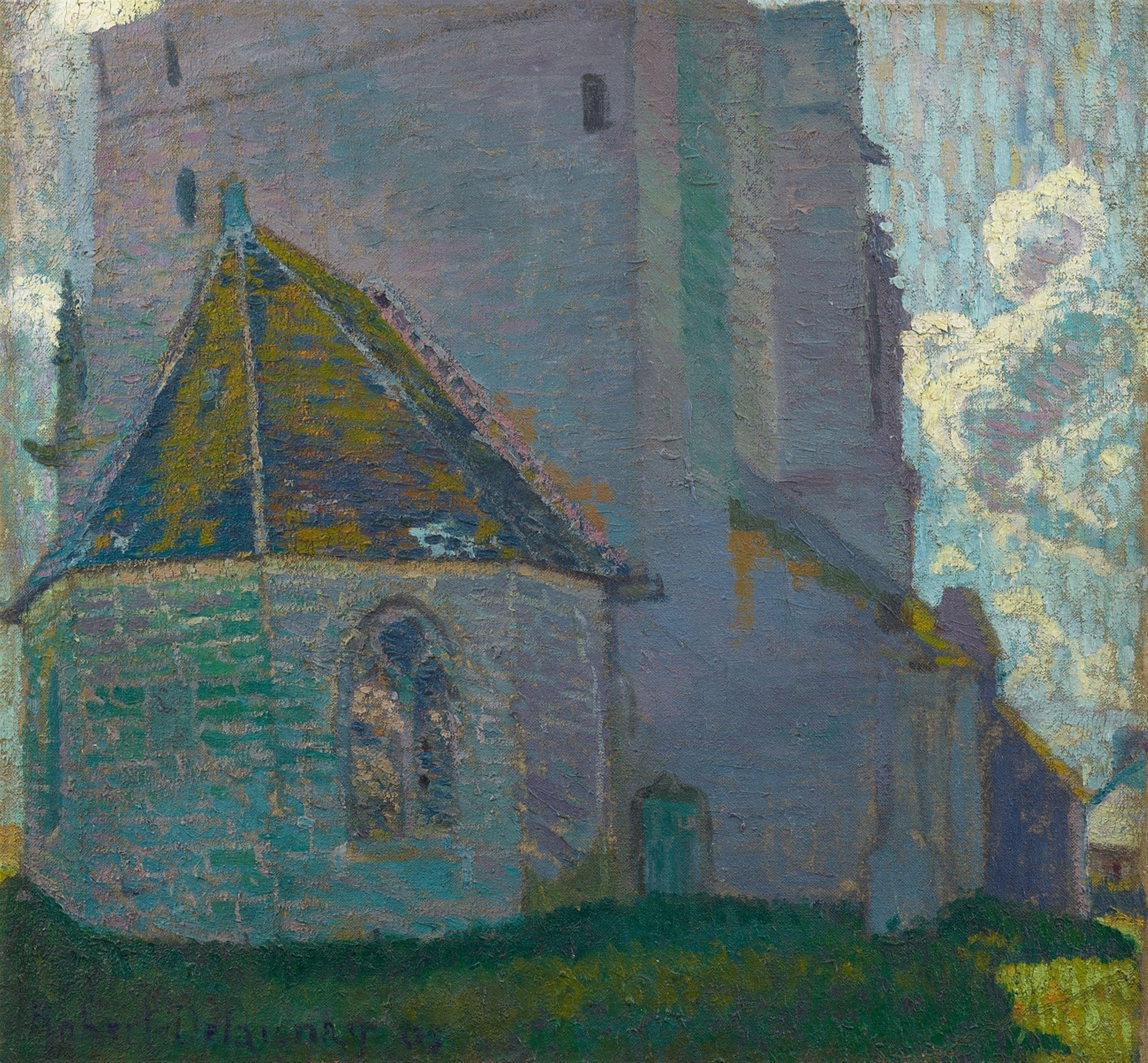 Robert Delaunay, Église, Bretagne, 1905, image ©Lempertz