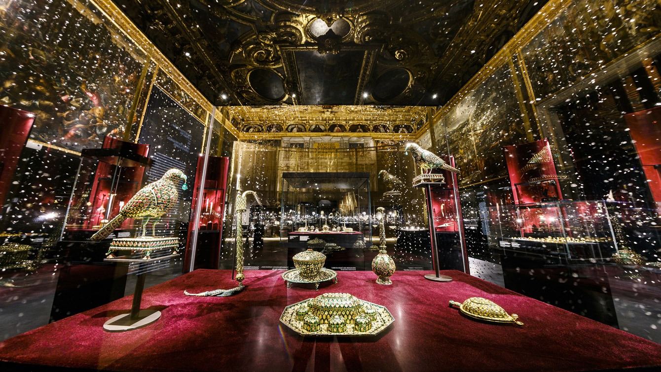 The Al Thani collection of exhibit at the Doge's Palace, Venice. Courtesy Al Thani Collection