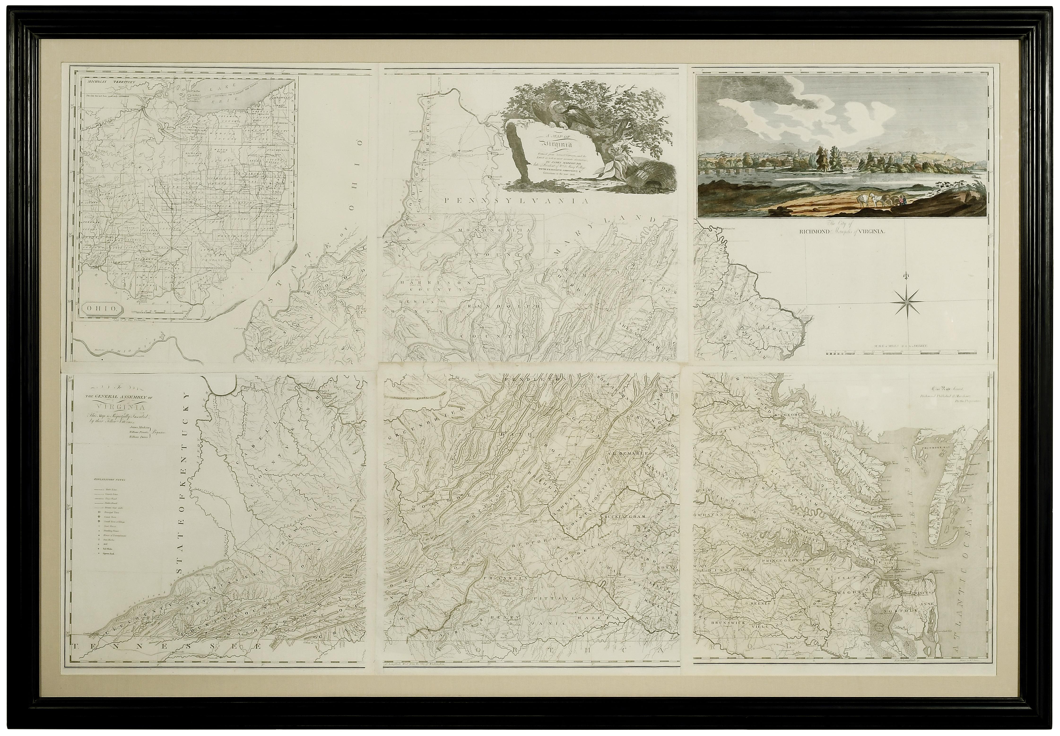 Bishop James Madison map of Virginia