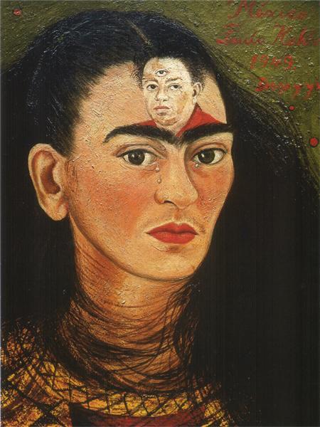 """Frida Kahlo, """"Diego y Yo"""", 1949."""