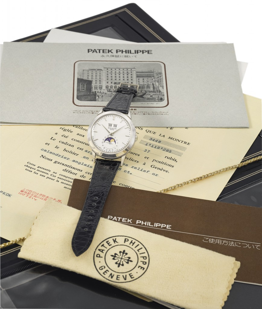 Patek Philippe Ref 3498 on sale at Christie's