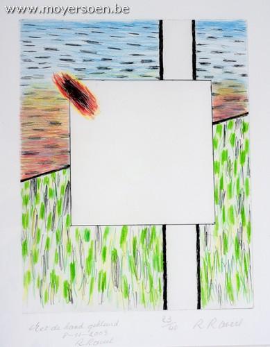 ROGER RAVEEL - Natuur en een gedachte in de leegte van een vierkant, Mischtechnik auf Papier, nummeriert, handsigniert und datiert, 2003 Startpreis: 1.500 EUR